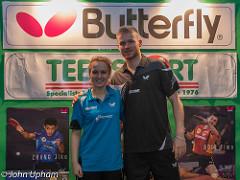 Gavin Evans and Maria Tsapstinos, both U21 National Champions 2014