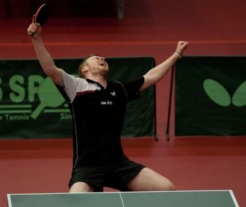 Table Tennis English National Championship, 2-4 March 2012 @ Ponds Forge Sheffield Picture Steve Parkin U21 Final winner Gavin Evans