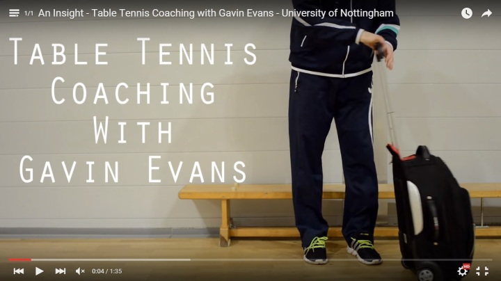 An Insight – Table Tennis Coaching with Gavin Evans